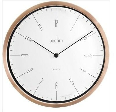 Acctim 27958 Sloane Wall Clock With Polished Copper Trim (Our Ref5R)