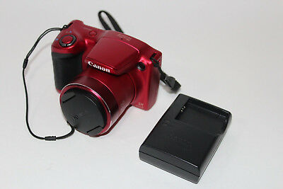 Canon PowerShot SX400 IS 16.0 MP Digital Camera Red