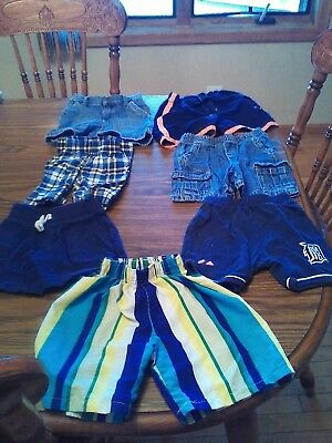 lot of 7 pairs of infant boy shorts size 18 months