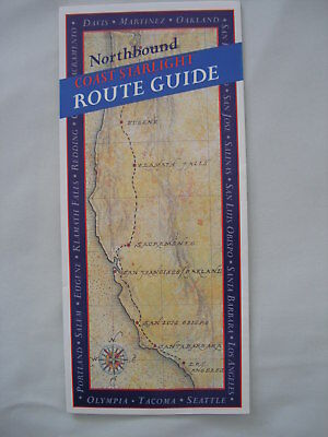 Amtrak menus coast starlight northbound southbound passenger 1997 amtrak coast starlight route guide northbound brochure map pacific ocean publicscrutiny Gallery