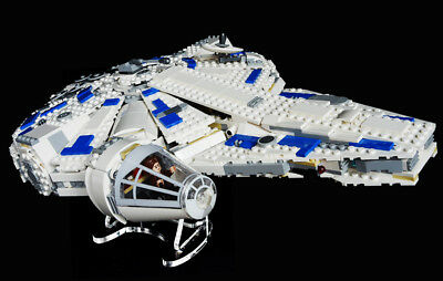 Star Wars Lego 75212 Kessel Run Falcon - angled - custom display stand only
