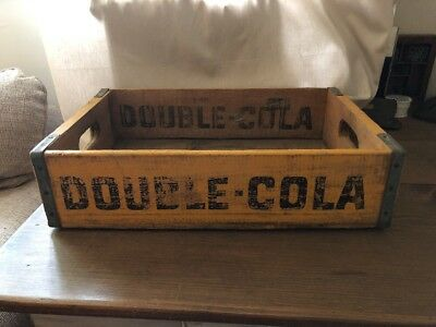 Vintage Double Cola Wood Soda Crate. Marked Marietta Ohio. Great Graphics!