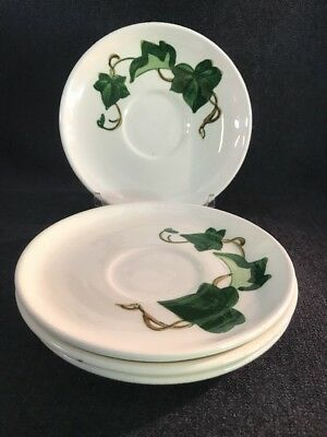 99-00101 Metlox Poppytrail CALIFORNIA IVY- Saucers Only- Set of 4