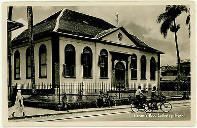 Surinam, Suriname Post Card Used Photo, Written On Back, Kirk, Church