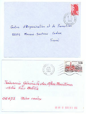 Guadeloupe Postmarks, Cachets, Cancels Capesterre 1987, 1985.