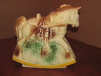 "Nelson McCoy Pottery Co Cookie Jar ""Hobby Horse"""
