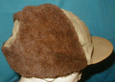 Large Original WWII U.S. Navy Rare Winter Pile Cap USN - size 7 1/2