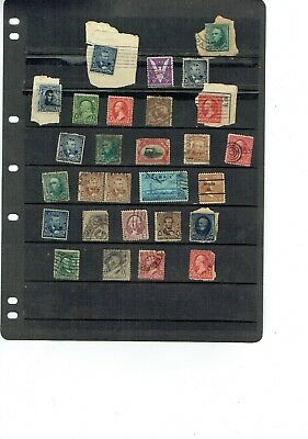 Stamps page early US USA America