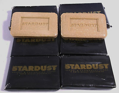Lot of 6 Vintage UNUSED Stardust Resort Hotel Casino Las Vegas Travel Soap Bars
