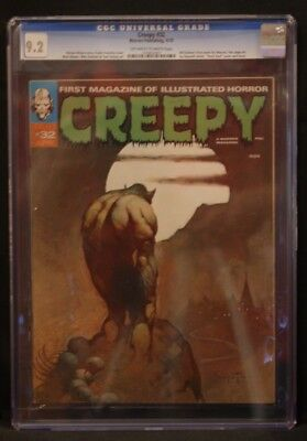 Creepy 32! Cgc 9.2! Ow-W Pages! Rock God By Neal Adams & Harlan Ellison! Htf!