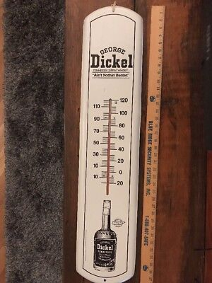 """Vintage Advertising Thermometer Dickey Tennessee Sipping Whiskey 38"""""""