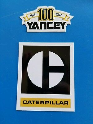 100 Year YANCY CAT Vintage CATERPILLAR Construction Equipment Hardhat Stickers