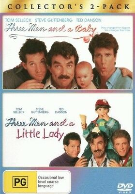 Three Men and A Baby / Three Men and A Little Lady DVD | Region 4 | New