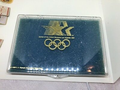"""1984 Los Angeles OLYMPICS Case only for Pins 6"""" X 4"""""""