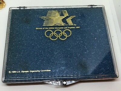 """1984 Los Angeles OLYMPICS Case only for Pins 4.5"""" X 3.5"""""""