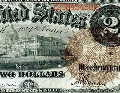 HGR SUNDAY 1880 $2 RARE Issue ((Large Brown Seal)) SOLID MID GRADE