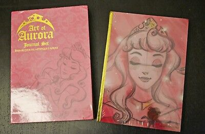 Disney Store Exclusive Art of Aurora 3 Journal Set Sleeping Beauty Princess