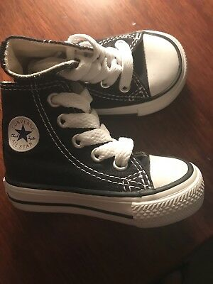 CONVERSE ALL STAR Chuck Taylor High Top Black Toddler UNISEX Size 2 NEW