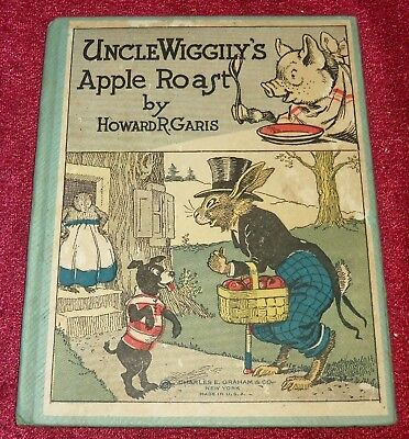 1920 Uncle Wiggily's Apple Roast 30 Lang Campbell Color, Rare First Printing Gem