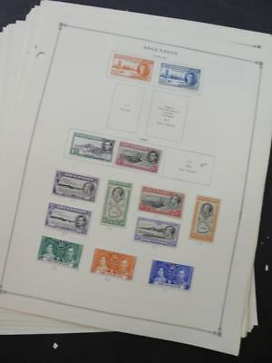 EDW1949SELL : ASCENSION Very clean Mint & Used collection on album pgs. Cat $205