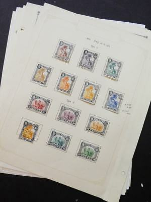 EDW1949SELL : NYASSA Very clean Mint & Used collection on album pages. Cat $134.