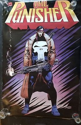 VINTAGE The Punisher TRENCHCOAT by JIM LEE Poster 22 X 34 CLASSIC!