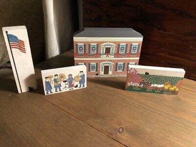 The Cats Meow Wood Village signed Faline 1994 - 4 pieces