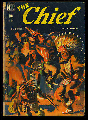 Four Color #290 (The Chief #1) Golden Age Dell Comic 1950 GD+