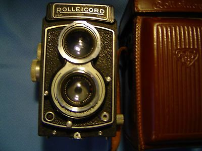 Antique, ROLLEICORD, DBP,1325971,DBGM, 3.5,  75mm,Compur Rapid,TLR.Germany