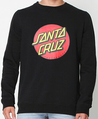 SANTA CRUZ - Big Dot Crew Black Jumper - NEW - MEDIUM ONLY