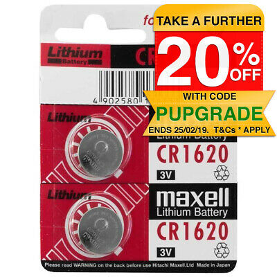 2pk New CR1620 3V 80mah Lithium Battery Button cell/coin for Calculator