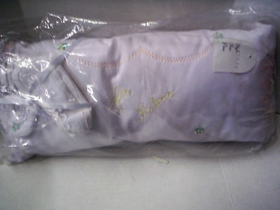 Baby Pillow With Matching Crib Shoes, Floral Design, Girl, Brand New