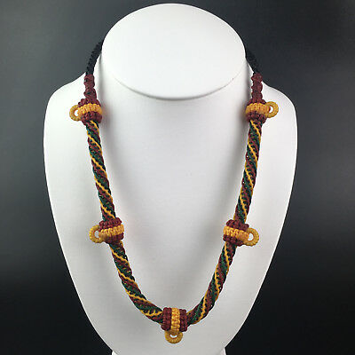 6 Hook Necklace Rope Wax Handmade Thai Style Buddhist Amulet Pendant Hang nr007