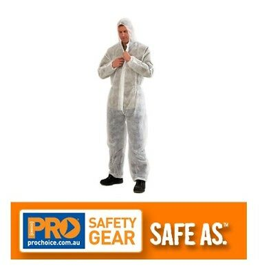 3Pack/5Pack/10Pack Disposable Overalls White Polypropylene Coverall Lightweight