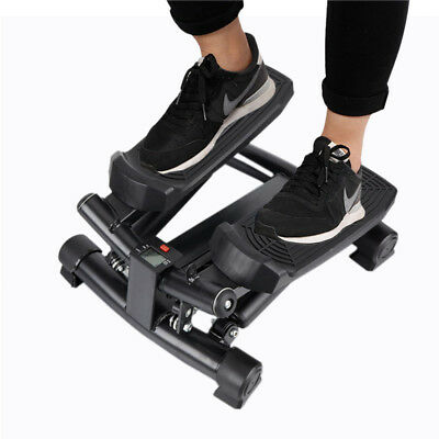 Fitness Exercise Mini Foot Pedal Stepper Trainer w/ Digital LCD for Home &Office