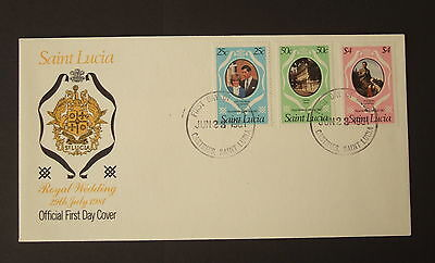 St Lucia 1981 Royal Wedding FDC First Day Prince Charles & Lady Diana Spencer