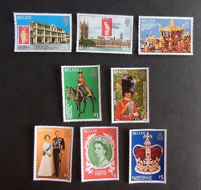 Belize 1978 25th Anniversary of Coronation SG495/502 MNH UM unmounted mint