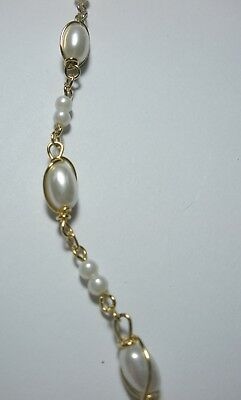 Vintage Faux Small Pearl Choker Necklace - Dainty - Measures 20""