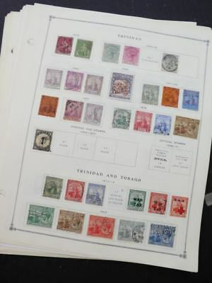 EDW1949SELL : TRINIDAD Very clean Mint & Used collection on album pages Cat $236