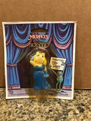 New Jim Henson's Muppets Eraser Miss Piggy Collector's Vintage NIP 1983 Empire