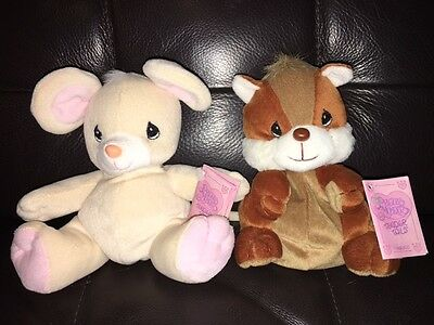 "Precious Moments Tender Tails Beige Mouse & Brown Chipmunk 6"" Stuffed Animal NEW"