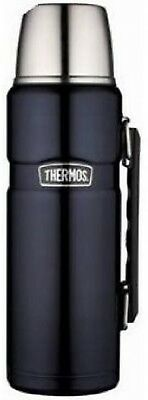 Thermos Stainless King 40 Ounce Beverage Bottle, Midnight Blue