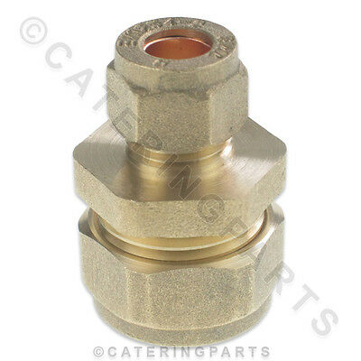1 x BRASS 15mm x 8mm STRAIGHT REDUCER COMPRESSION PIPE FITTING CONNECTOR LPG