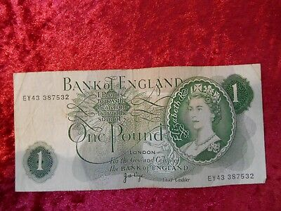 Bank of England One Pound Banknote , grade Fine
