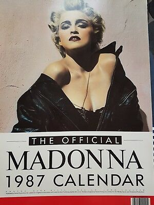 large vintage official Madonna calendar 1987 with photos by herb ritts.1980s