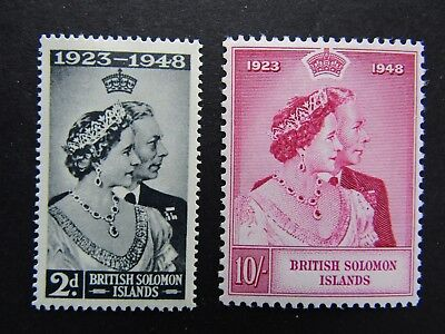 British Solomon Islands - 1948 Royal Wedding Set - Pristine Mnh