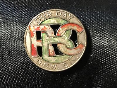 Vintage Badge - OUR DAY RBC NSW DIV - R.B.C Pin