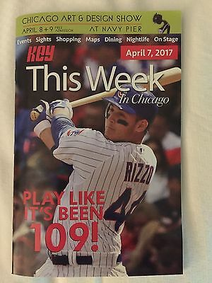 April 7 2017 ANTHONY RIZZO Cover KEY This Week in CHICAGO CUBS WRIGLEY