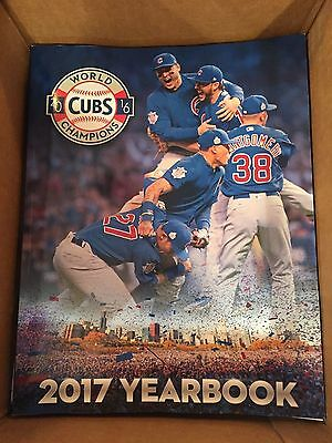 2017 Chicago Cubs Yearbook Maddon Kris Bryant Rizzo Lester Arrieta Wood Wrigley