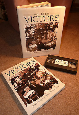 Michigan Wolverines Hail To The Victors 1987 Vhs / Book Bo Schembechler Harbaugh